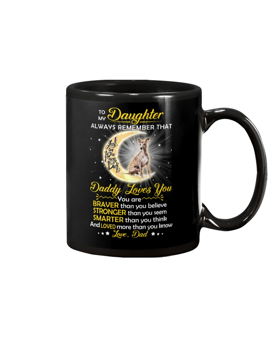 Whippet Daughter Dad Daddy Loves You Mug