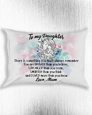 Braver Stronger Smarter Loved Unicorn Daughter Mum Rectangular Pillowcase aos-pillow-rectangle-front-lifestyle-4