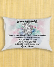 Braver Stronger Smarter Loved Unicorn Daughter Mum Rectangular Pillowcase aos-pillow-rectangle-front-lifestyle-6
