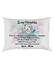 Braver Stronger Smarter Loved Unicorn Daughter Mum Rectangular Pillowcase back