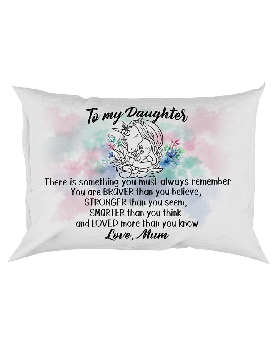 Braver Stronger Smarter Loved Unicorn Daughter Mum Rectangular Pillowcase