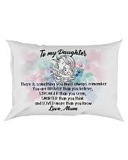 Braver Stronger Smarter Loved Unicorn Daughter Mum Rectangular Pillowcase front