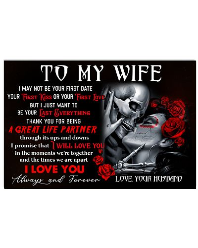 Skull Wife Last Everything Ups And Downs Poster CC