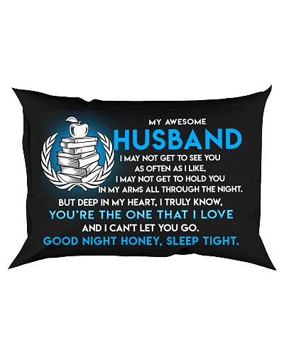 Teacher Husband Good Night Sleep Tight Pillow