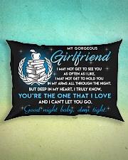 Teacher Girlfriend Good Night Sleep Tight Pillow Rectangular Pillowcase aos-pillow-rectangle-front-lifestyle-3