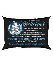 Teacher Girlfriend Good Night Sleep Tight Pillow Rectangular Pillowcase back