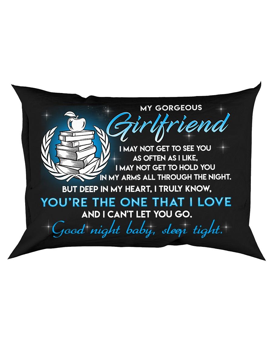 Teacher Girlfriend Good Night Sleep Tight Pillow Rectangular Pillowcase