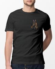 Cute Dog Pocket Inside  Classic T-Shirt lifestyle-mens-crewneck-front-13