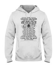 Viking Girlfriend I Love You More Hooded Sweatshirt thumbnail