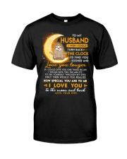 Sloth Husband Clock Ability Moon Classic T-Shirt thumbnail