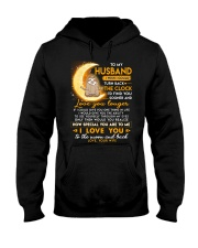 Sloth Husband Clock Ability Moon Hooded Sweatshirt thumbnail