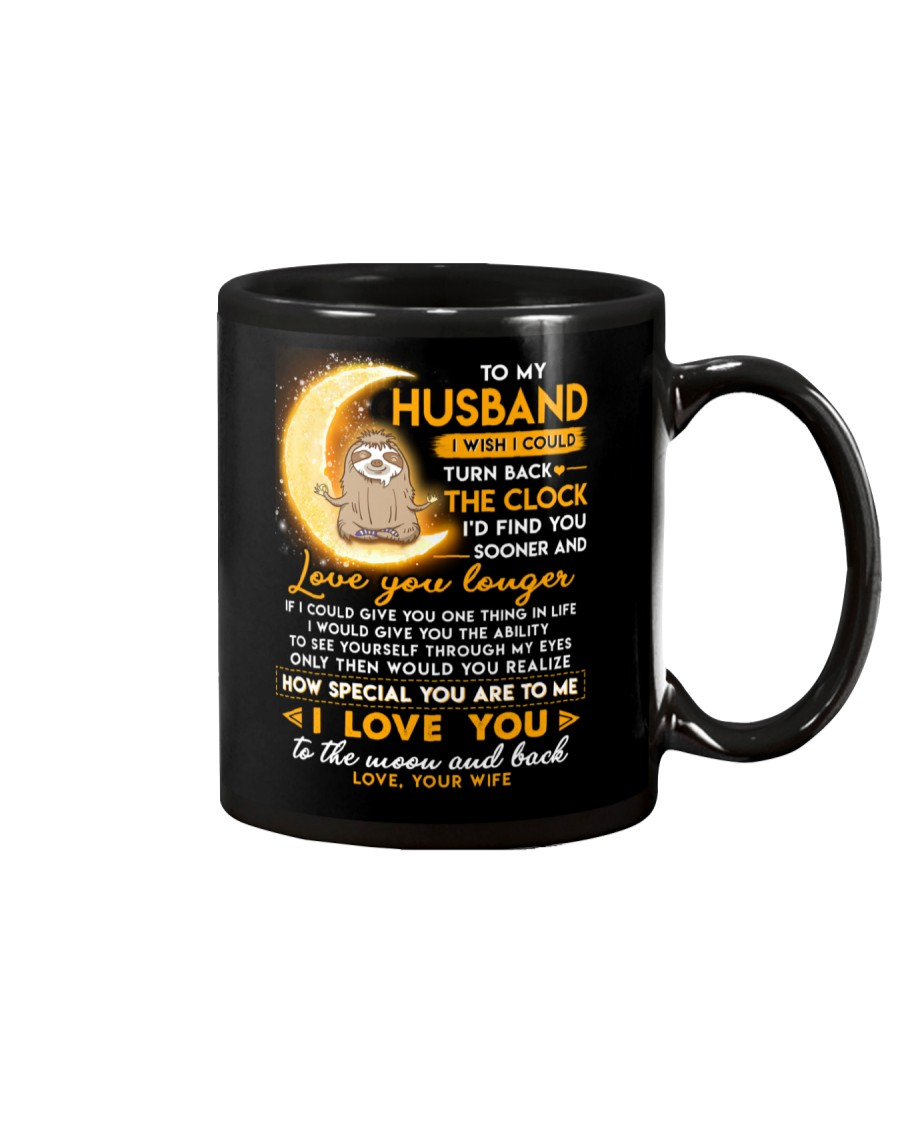 Sloth Husband Clock Ability Moon Mug