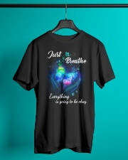 Just Breathe Everything Going Okay Butterfly Classic T-Shirt lifestyle-mens-crewneck-front-3