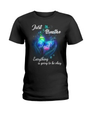 Just Breathe Everything Going Okay Butterfly Ladies T-Shirt thumbnail