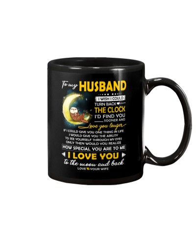 Otter Husband Clock Ability Moon Mug