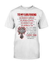 Firefighter Girlfriend The Answer Is You Classic T-Shirt thumbnail