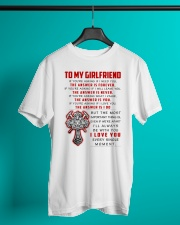 Firefighter Girlfriend The Answer Is You Classic T-Shirt lifestyle-mens-crewneck-front-3