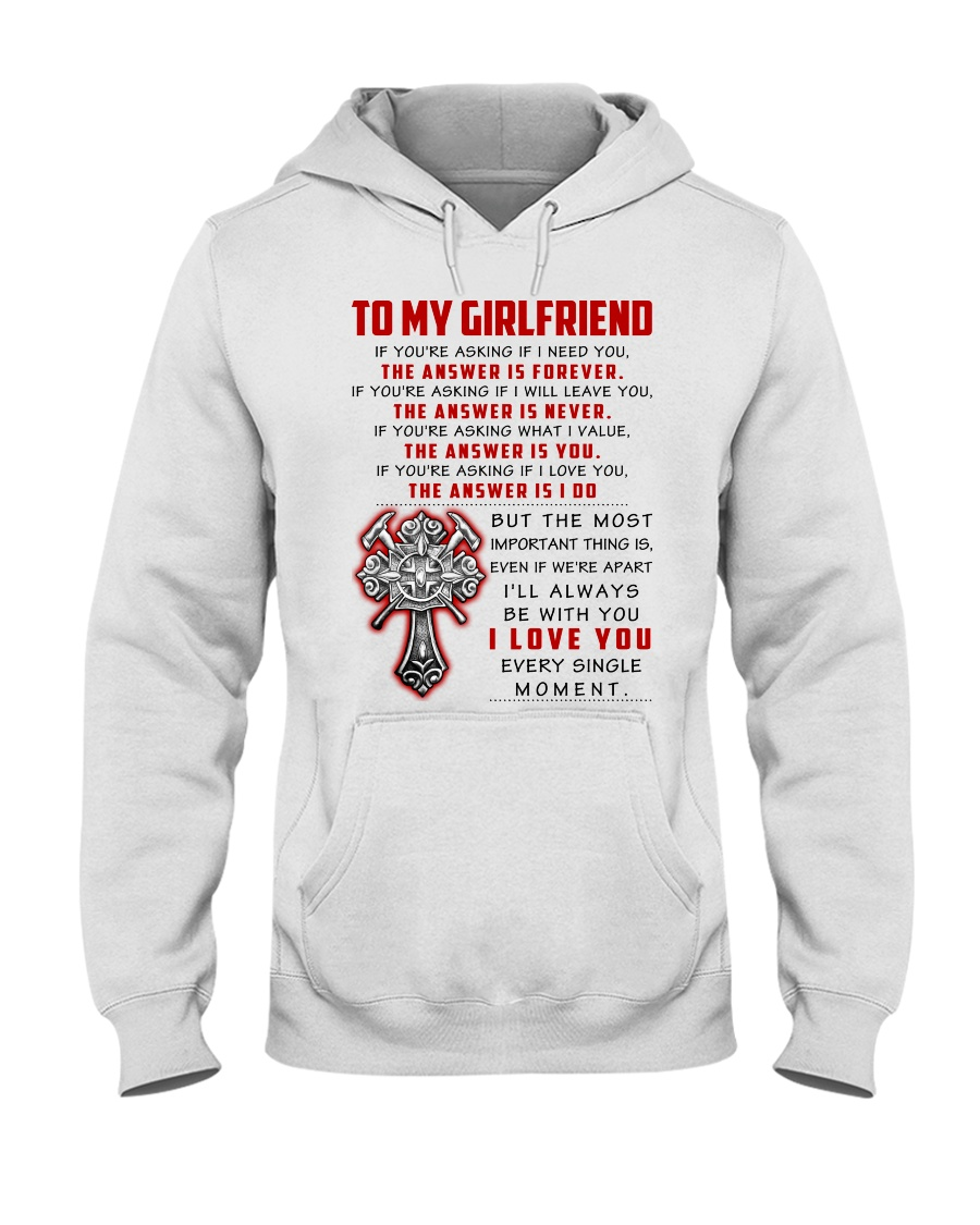 Firefighter Girlfriend The Answer Is You Hooded Sweatshirt
