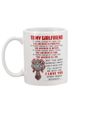 Firefighter Girlfriend The Answer Is You Mug back