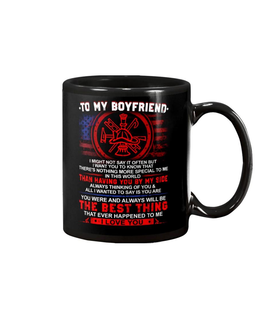 Firefighter Boyfriend Having You By My Side Mug