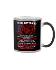 Firefighter Boyfriend Having You By My Side Color Changing Mug tile