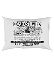 Viking Wife I Love You More Rectangular Pillowcase back
