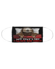 Sloth And That's How I Saved The World Cloth face mask aos-face-mask-coverlet-lifestyle-front-01