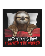 Sloth And That's How I Saved The World Cloth face mask aos-face-mask-coverlet-lifestyle-front-02