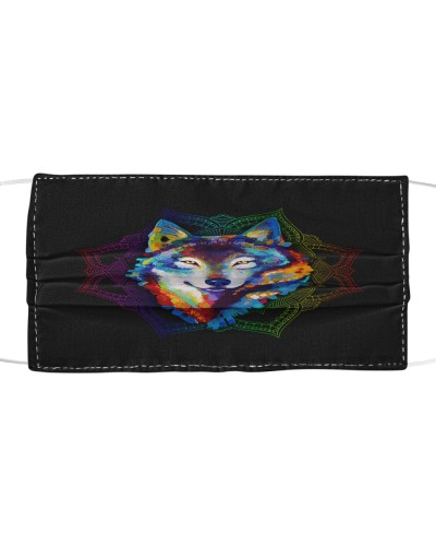 Wolf Mandala Facemask BT