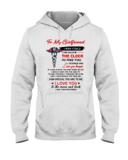 Nurse Girlfriend Clock Ability Moon Hooded Sweatshirt thumbnail