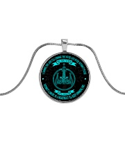 I'll Choose You Over And Over Viking Wife Metallic Circle Necklace front