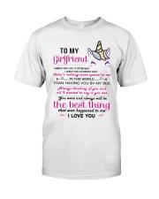 Unicorn Girlfriend Having You By My Side Classic T-Shirt thumbnail
