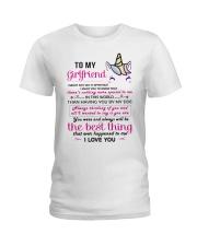 Unicorn Girlfriend Having You By My Side Ladies T-Shirt thumbnail