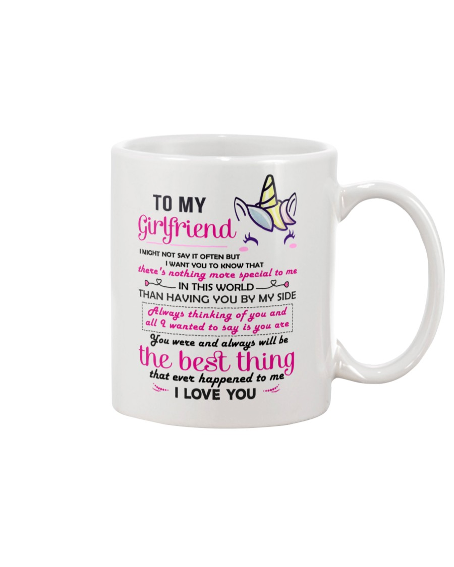 Unicorn Girlfriend Having You By My Side Mug