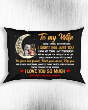 When I Looked Into Your Eyes Cat Rectangular Pillowcase aos-pillow-rectangle-front-lifestyle-4