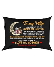 When I Looked Into Your Eyes Cat Rectangular Pillowcase front