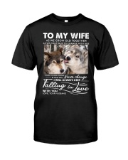 Wolf Keep Falling In Love Wife Classic T-Shirt thumbnail