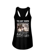 Wolf Keep Falling In Love Wife Ladies Flowy Tank thumbnail