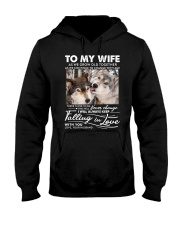 Wolf Keep Falling In Love Wife Hooded Sweatshirt thumbnail