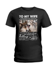 Wolf Keep Falling In Love Wife Ladies T-Shirt thumbnail