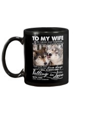 Wolf Keep Falling In Love Wife Mug back