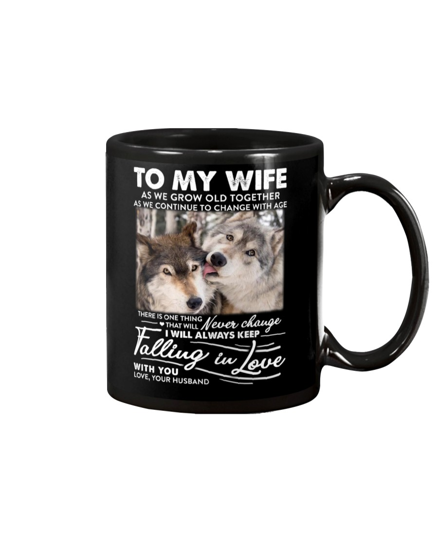 Wolf Keep Falling In Love Wife Mug