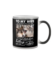 Wolf Keep Falling In Love Wife Color Changing Mug thumbnail