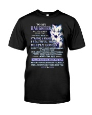 Wolf Daughter Dad Beautiful Inside And Out Classic T-Shirt thumbnail