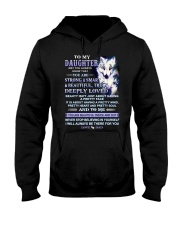 Wolf Daughter Dad Beautiful Inside And Out Hooded Sweatshirt thumbnail