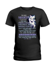 Wolf Daughter Dad Beautiful Inside And Out Ladies T-Shirt thumbnail