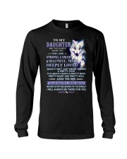 Wolf Daughter Dad Beautiful Inside And Out Long Sleeve Tee thumbnail