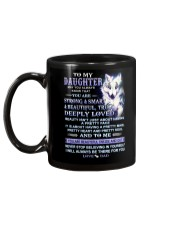 Wolf Daughter Dad Beautiful Inside And Out Mug back