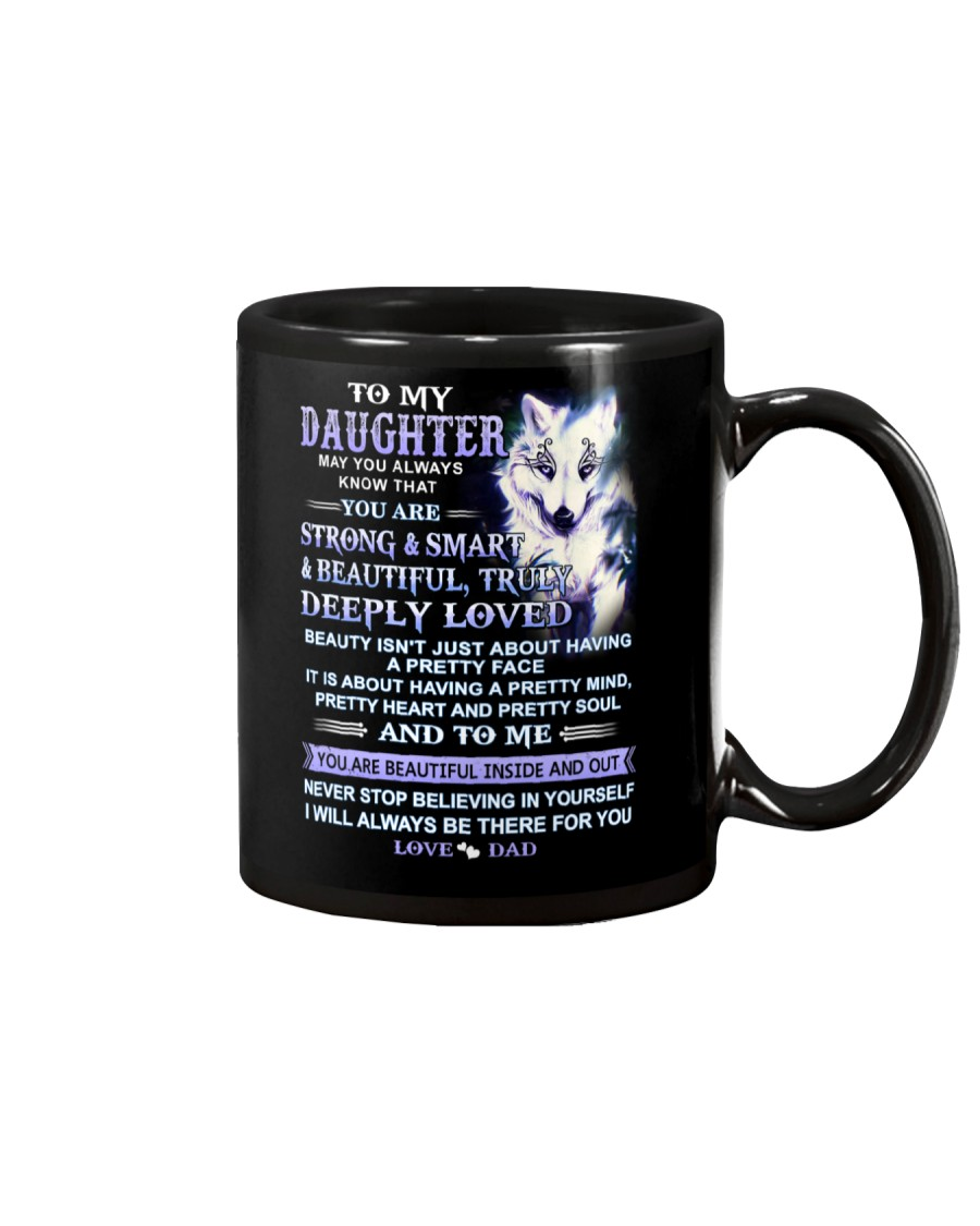 Wolf Daughter Dad Beautiful Inside And Out Mug