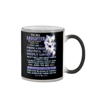 Wolf Daughter Dad Beautiful Inside And Out Color Changing Mug thumbnail